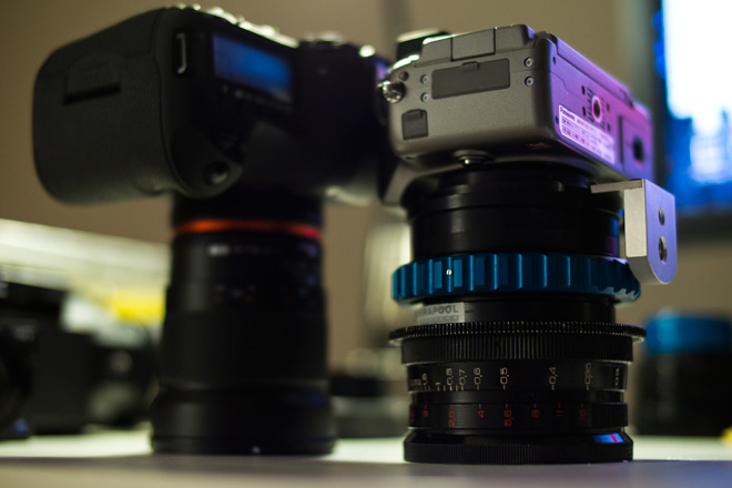 LOMO aspherical cinema lens (OCT-19) on the Panasonic GH2