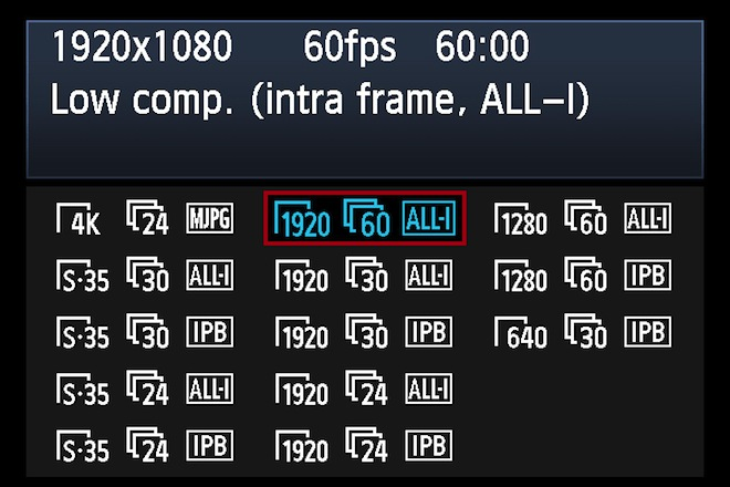 1D C recording modes