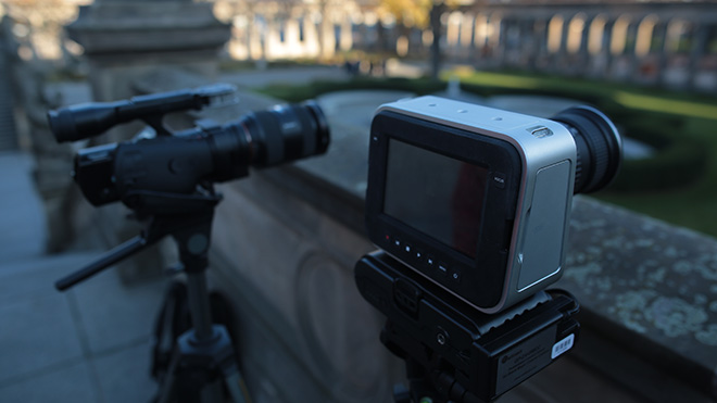 Blackmagic Cinema Camera and Sony NEX VG-900