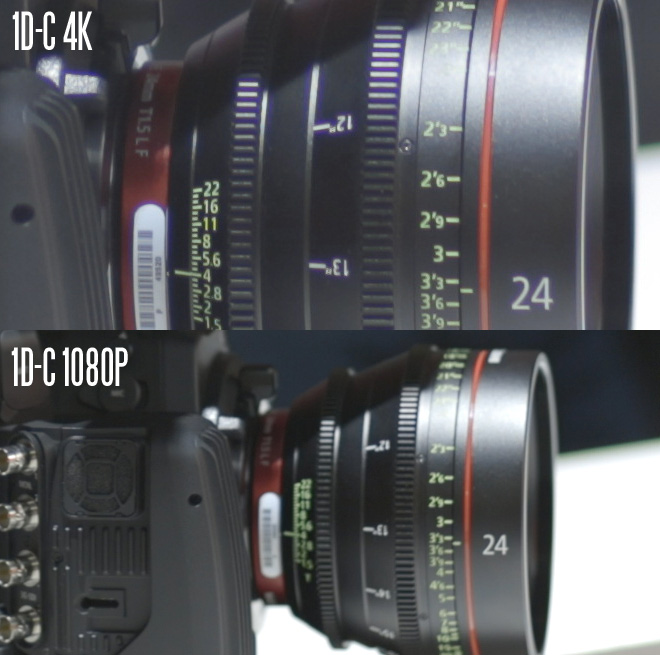 Canon 1D C 4K and 1080p comparison