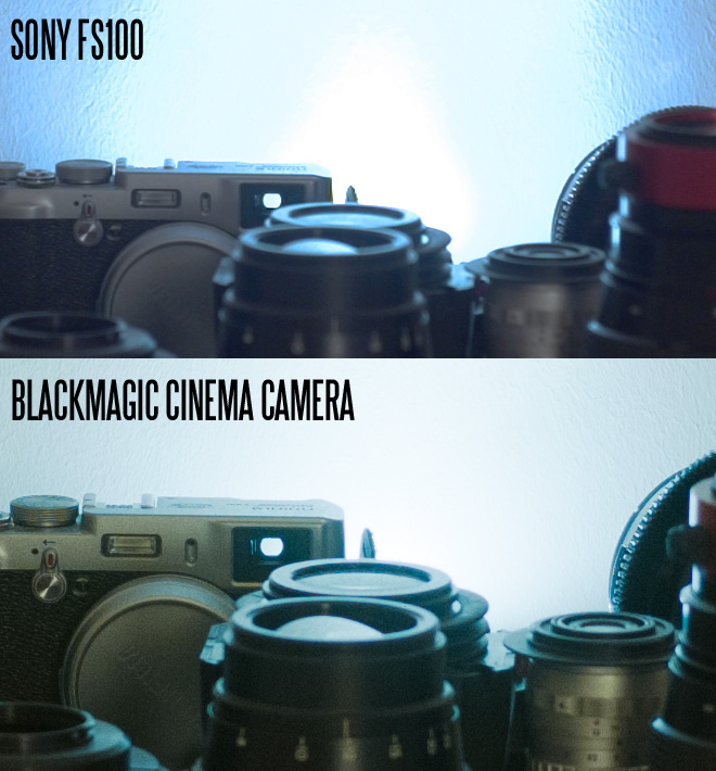 Sony FS100 vs Blackmagic Cinema Camera