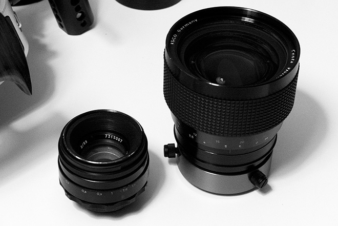 Helios 44M-2 and Isco CentaVision 2x anamorphic