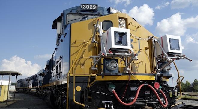 Train mounted cameras