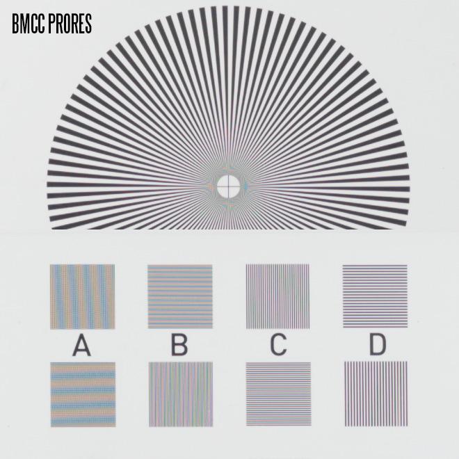 Resolution Chart - Blackmagic Cinema Camera - ProRes
