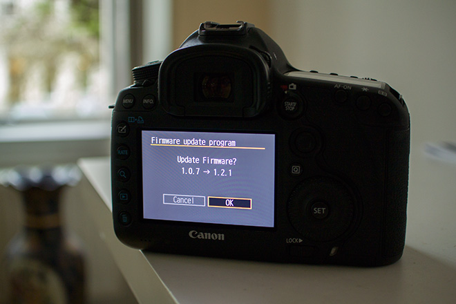 5D Mark III firmware update 1.2.1