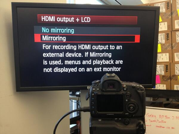 5D Mark III HDMI mirroring