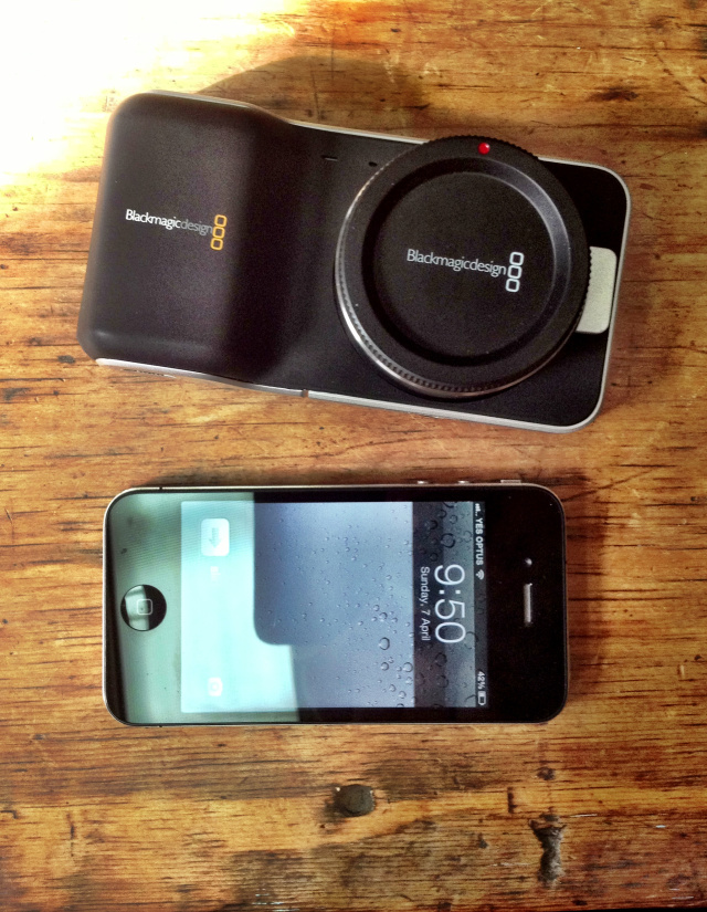 blackmagic pocket cinema camera iphone