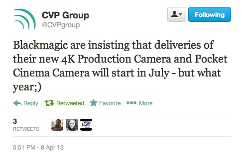 cvp blackmagic production camera twitter