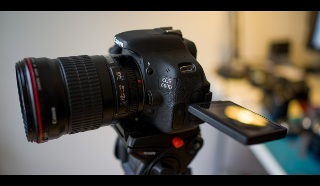 Canon 600D raw video