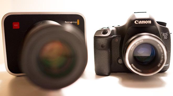 BMCC and 5D Mark III