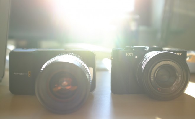Blackmagic Pocket vs RX1 size comparison