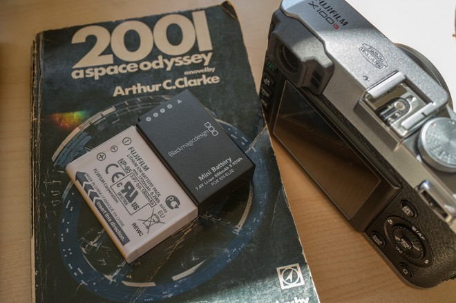 Blackmagic Pocket camera mini battery and Fuji X100S battery