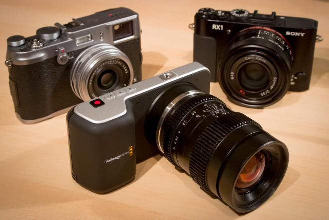 Blackmagic Pocket Cinema Camera and Fuji X100S and Sony RX1