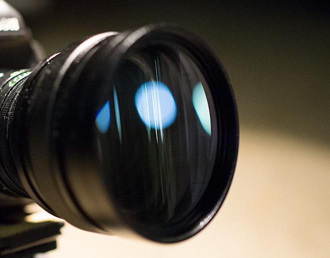 SLR Magic prototype on the Canon 5D Mark III