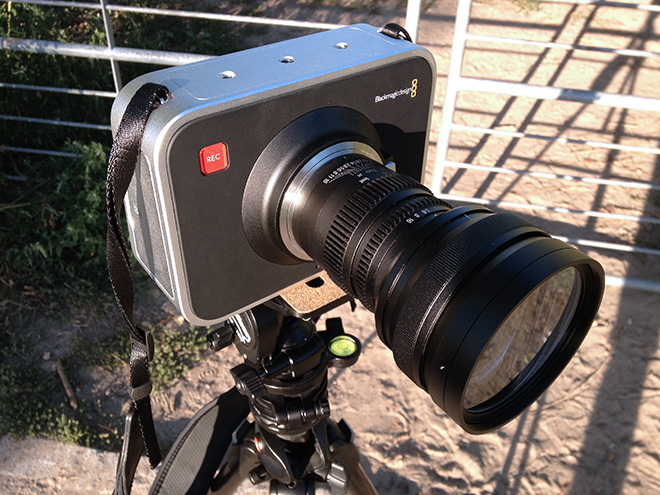 SLR Magic anamorphic prototype V3 on the BMCC MFT