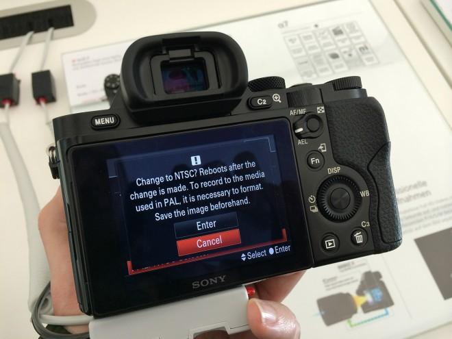 Sony A7 PAL / NTSC switchable