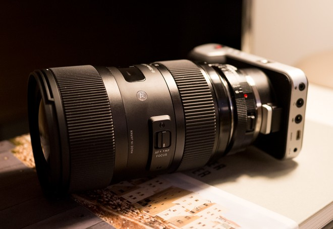 Blackmagic Pocket camera and Sigma 18-35mm on Nikon-F Metabones Speed Booster for Micro Four Thirds