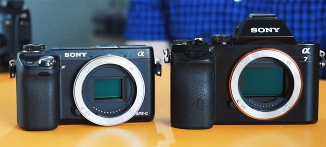 Sony A7 size comparison NEX 6