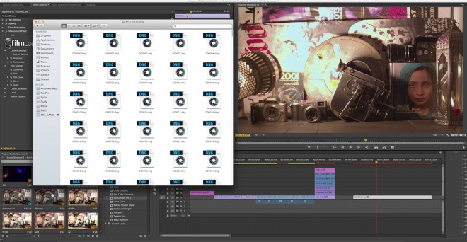 Cinema DNG raw video editing in Premiere CC first look