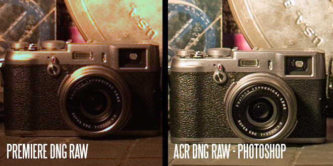 Premiere vs ACR - DNG raw
