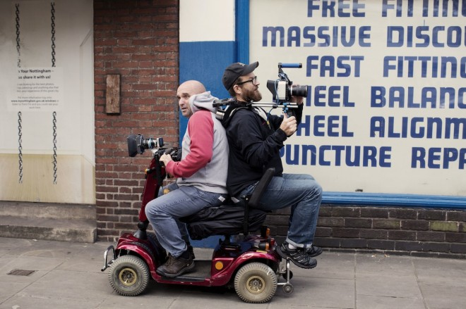 Shane Meadows - Jake Bugg shoot on Blackmagic - mobility scooter 2