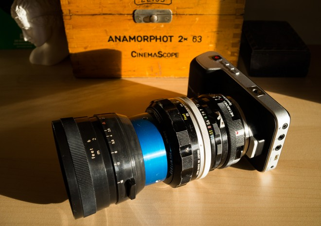 Blackmagic Pocket Cinema Camera anamorphic Iscorama
