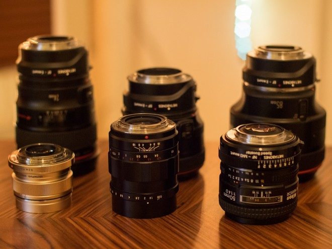 E-M1 and A7R Lenses