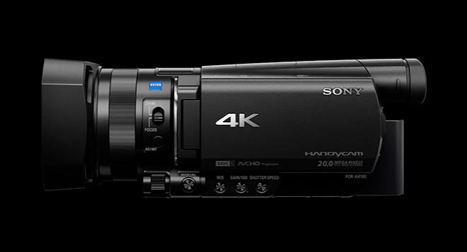 Sony AX100e 4K camcorder