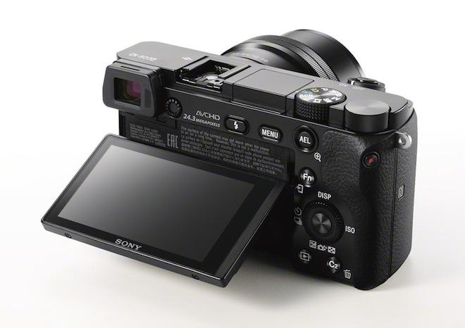 Sony A6000 rear LCD screen