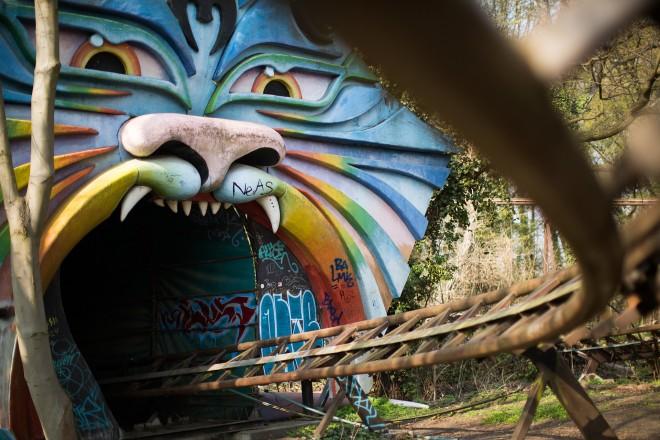 Spreepark rollercoaster Berlin