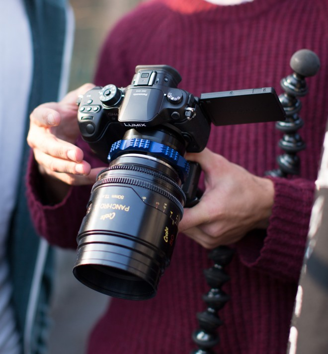 Panasonic GH4 and Cooke PL lens