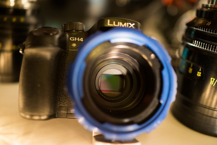 Ciecio7 PL adapter for Micro Four Thirds on the Panasonic GH4