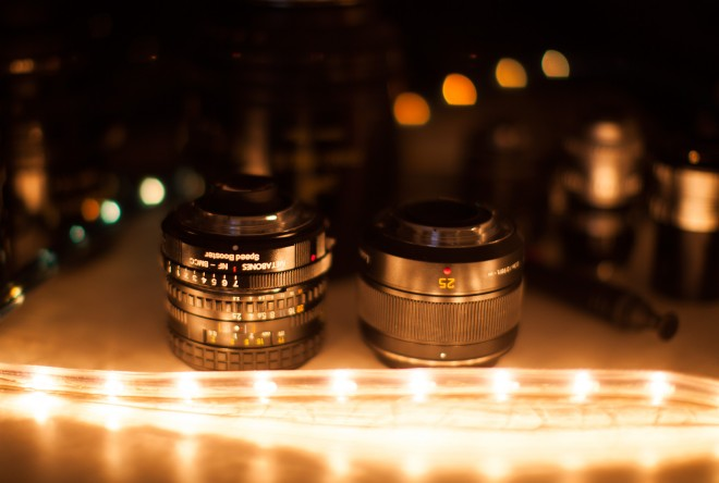 Nikon 35mm F2.5 E-series and Panasonic Leica 25mm F1.4