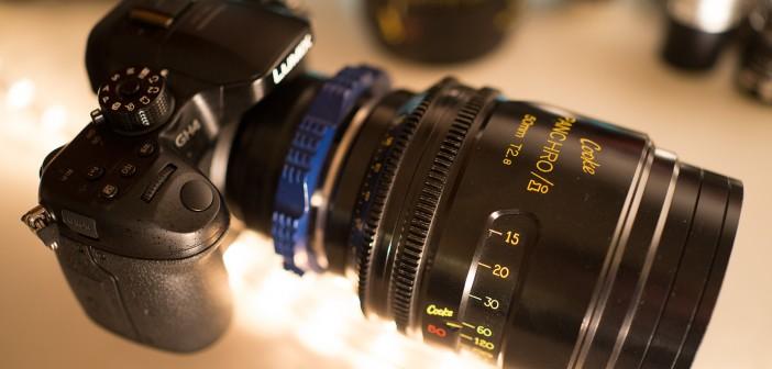 GH4 Cooke PL lens