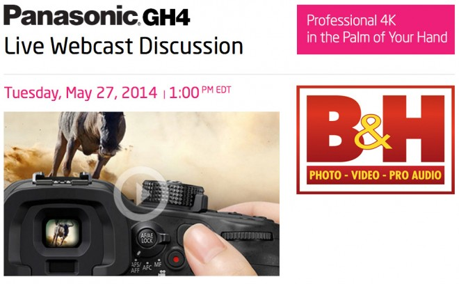 Panasonic GH4 live webcast at B&H Photo & Video