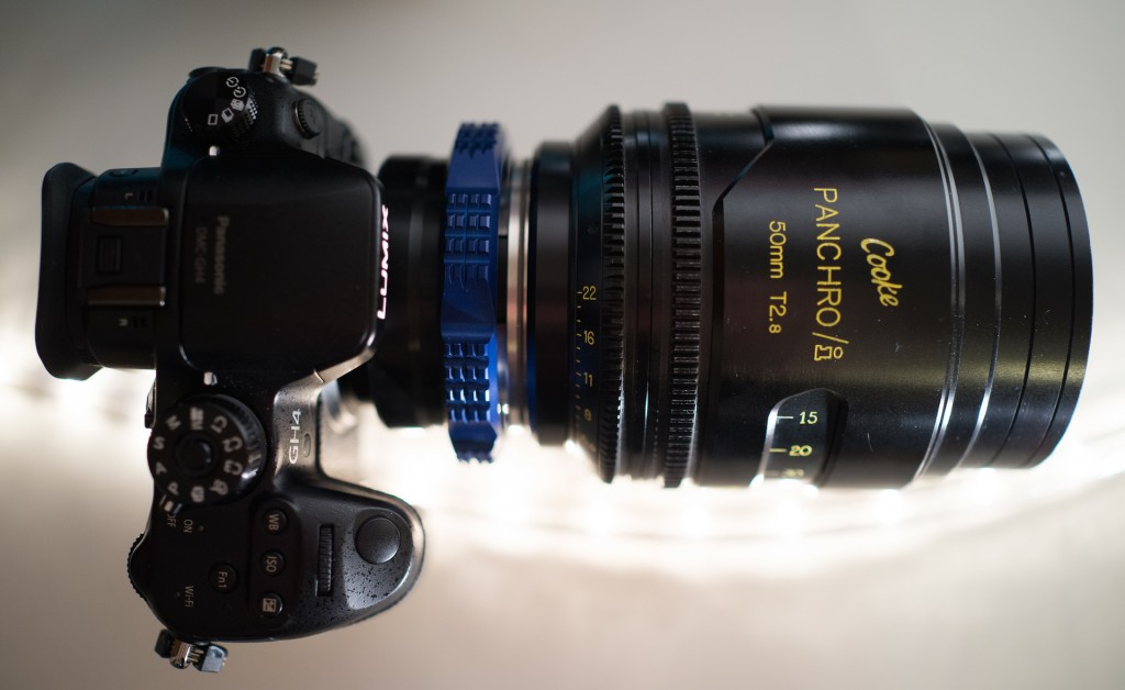Panasonic GH4 review (pictured with Cooke Panchro Cinema lens)