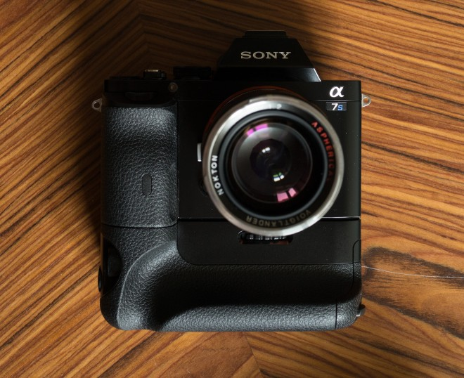 Sony A7S with vertical battery grip