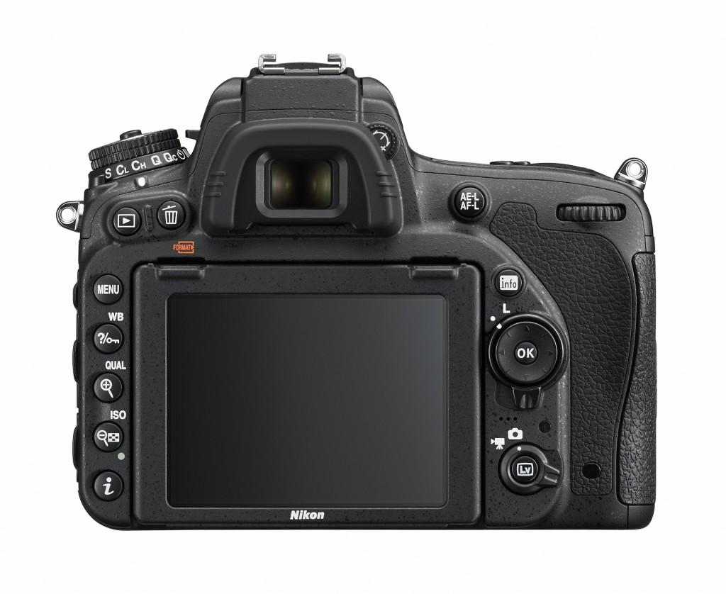 Nikon D750 rear view / LCD