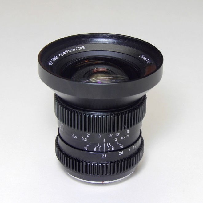 SLR Magic 10mm T2.1 front