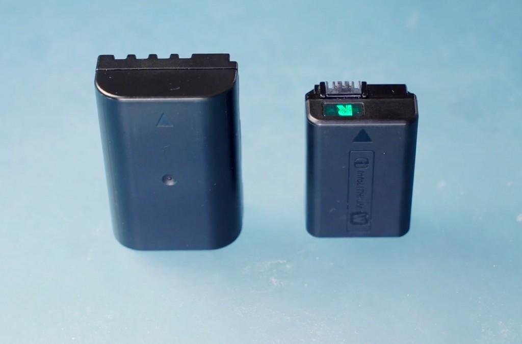 GH4 & A7S battery size comparison