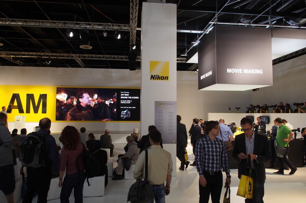 Nikon movie making at Photokina