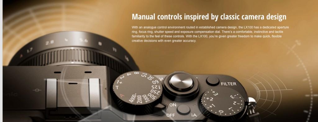 LX100 controls