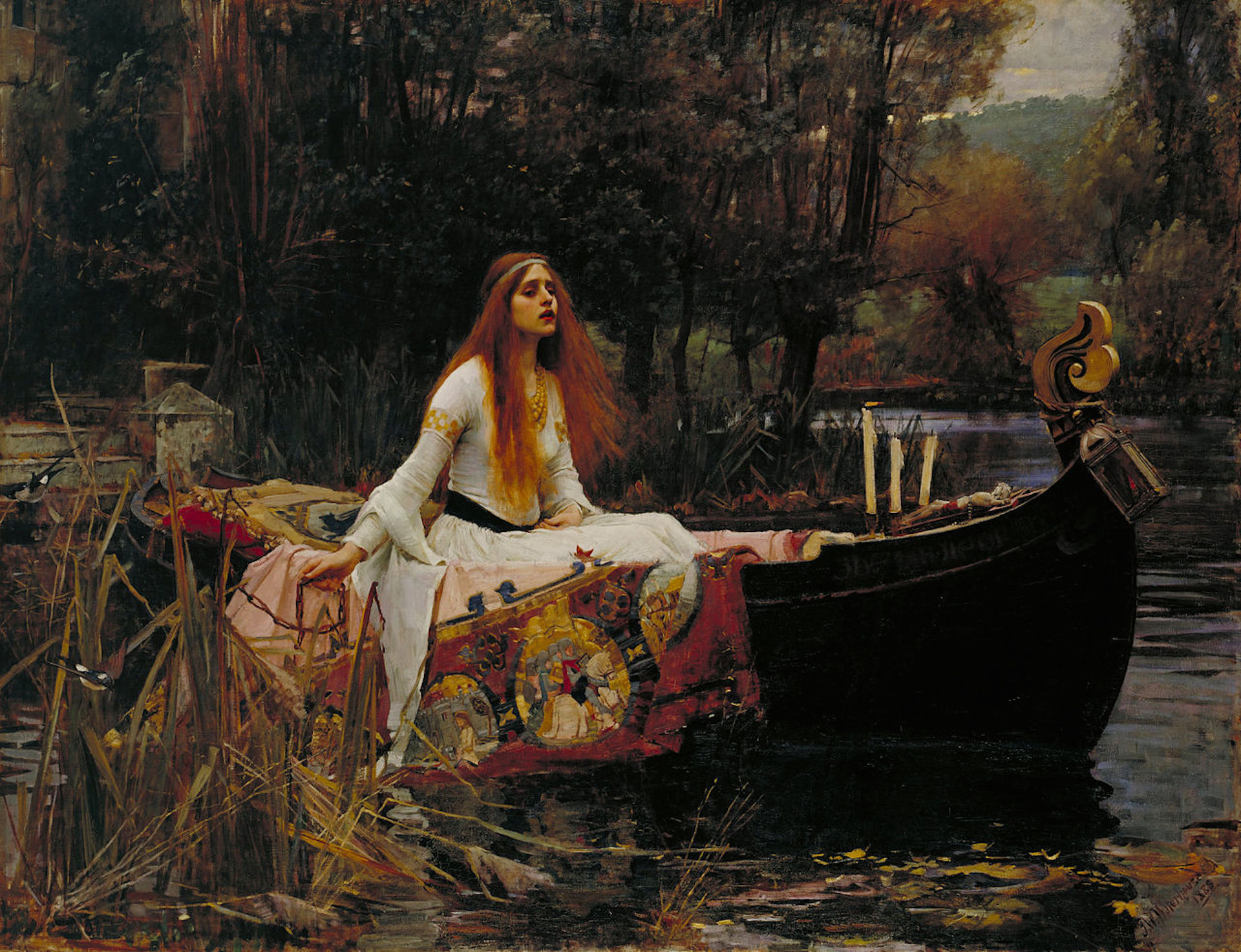 The Lady of Shalott, painting by John William Waterhouse