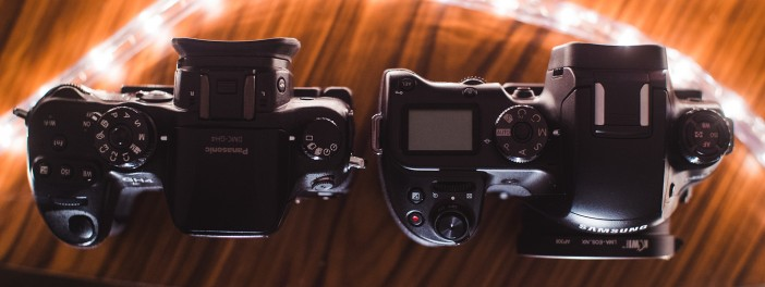 NX1 top panel controls vs GH4