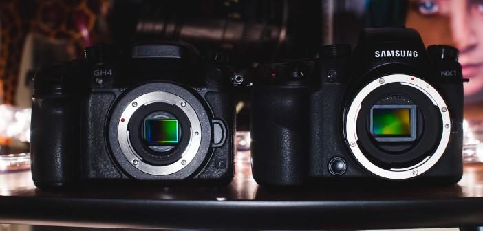 Panasonic GH4 (left) vs Samsung NX1 (right)