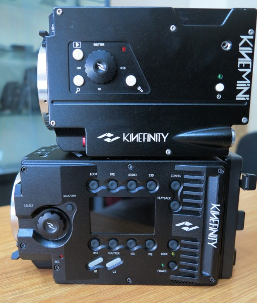 Bottom: KineMAX 6K, top: KineMINI 4K