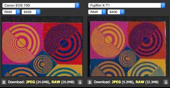 70d vx xt-1 raw iso 6400 dpreview