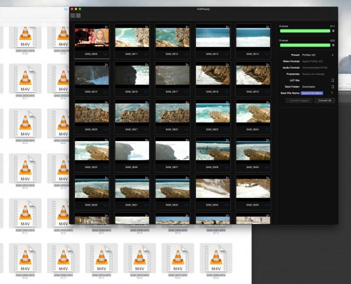EditReady - Samsung NX1 H.265 clips