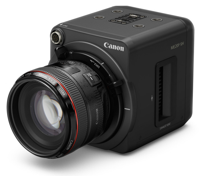 Canon ME20F-SH low light camera - front side view