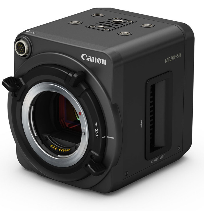 Canon ME20F-SH low light camera - lens mount view